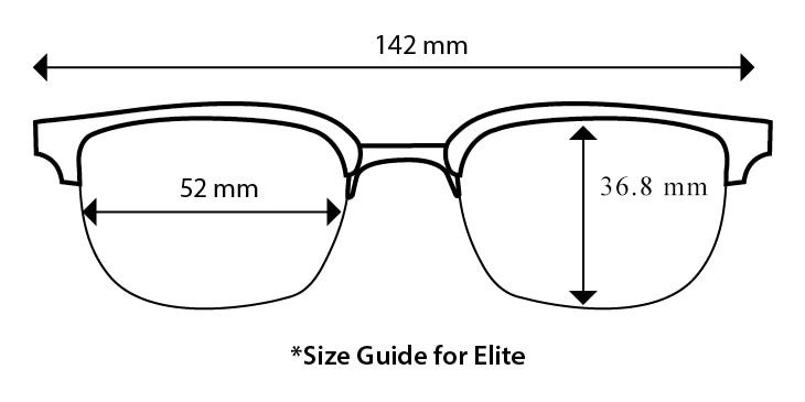 audio glasses size guide