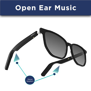 carbon audio sunglasses with open ear music