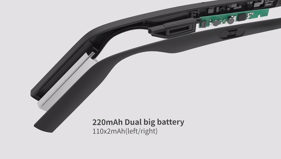 audio glasses with long battery life